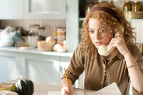 """THE HELP"" TH-181 Skeeter Phelan (Emma Stone), an aspiring writer, listens to advice from her editor in New York as she embarks on a secret writing project that puts her, and especially the women she is working with, at great risk, in DreamWorks PicturesÕ inspiring drama, ÒThe Help,Ó based on the ÒNew York TimesÓ best-selling novel by Kathryn Stockett. ÒThe HelpÓ is written for the screen and directed by Tate Taylor, with Brunson Green, Chris Columbus and Michael Barnathan producing. Ph: Dale Robinette ©DreamWorks II Distribution Co., LLC. ÊAll Rights Reserved."